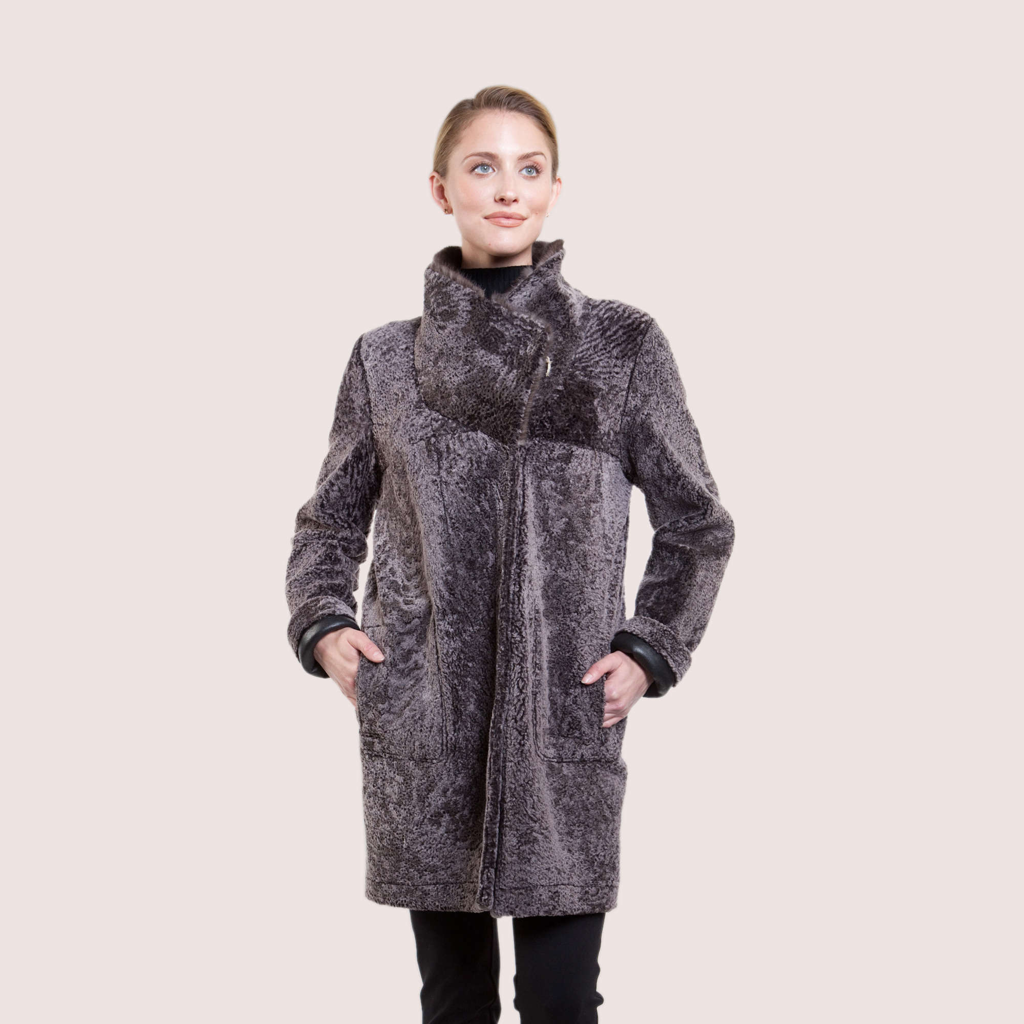 Mia Reversible Shearling Coat