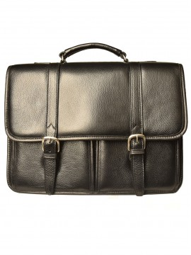 Briefcase with two front pockets