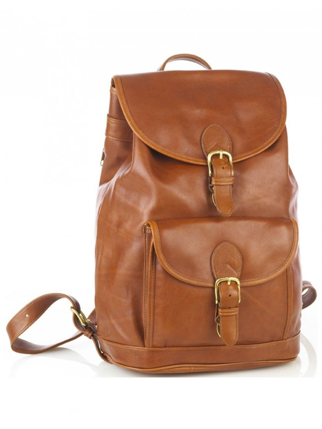 Large Drawstring Backpack w/Front Buckle Pocket