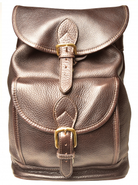Medium Drawstring Backpack w/Front Buckle Pocket