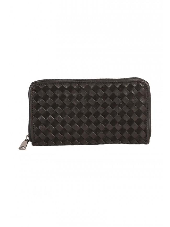 Nikki Woven Leather Wallet