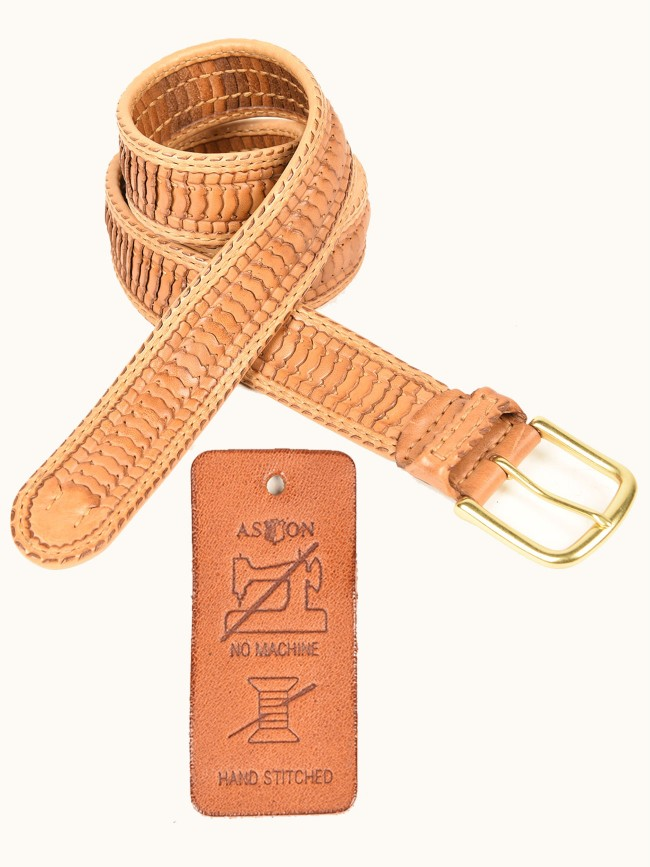 Manchester Hand-Stitched Woven Belt