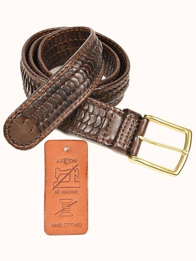 Winchester Hand-Stitched Woven Belt