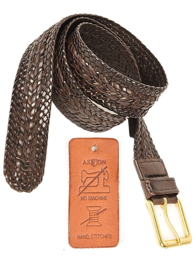 Hudson Hand-Stitched Woven Belt