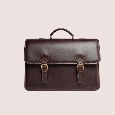 Morrison Men's Double Compartment Briefcase