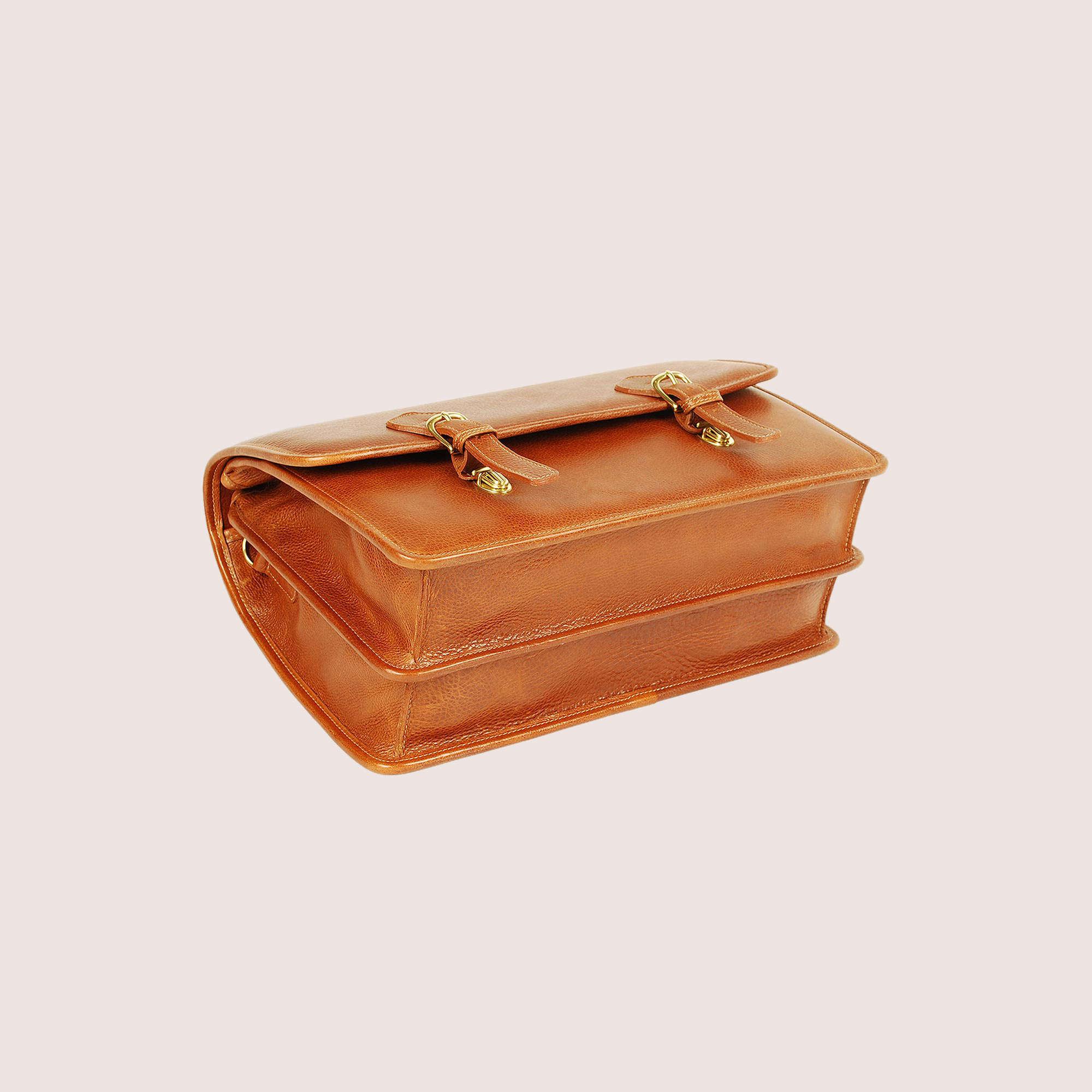 Morrison Men's Double Compartment Briefcase