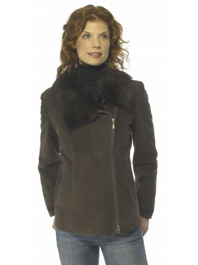 Viola Shearling Asymmetric Jacket