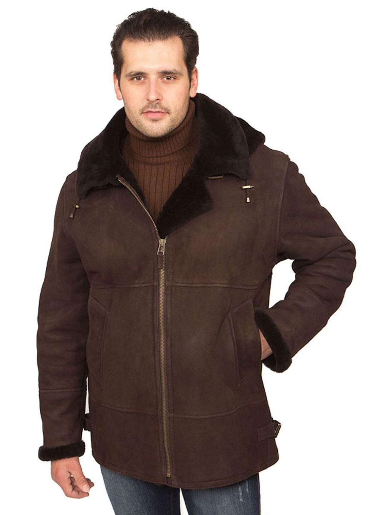 Men S Shearling Hooded Bomber Jacket
