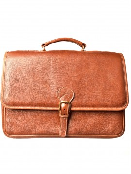 Charles Double Compartment Briefcase w/laptop case