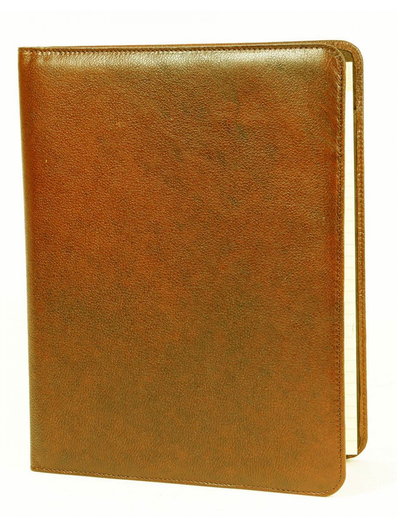 leather writing pad Executive bonded leather writing padfolio with a document flap and multiple pockets includes an 8 1/2 x 11 letter size writing pad.