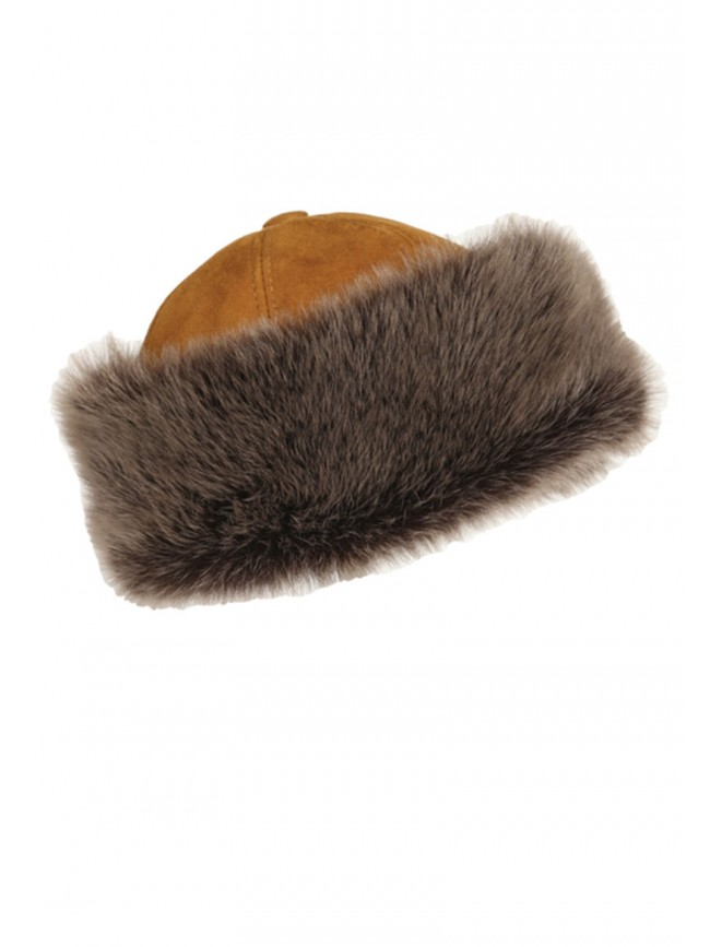 Women's Siberia Round Sheepskin HAt with Toscana Trim