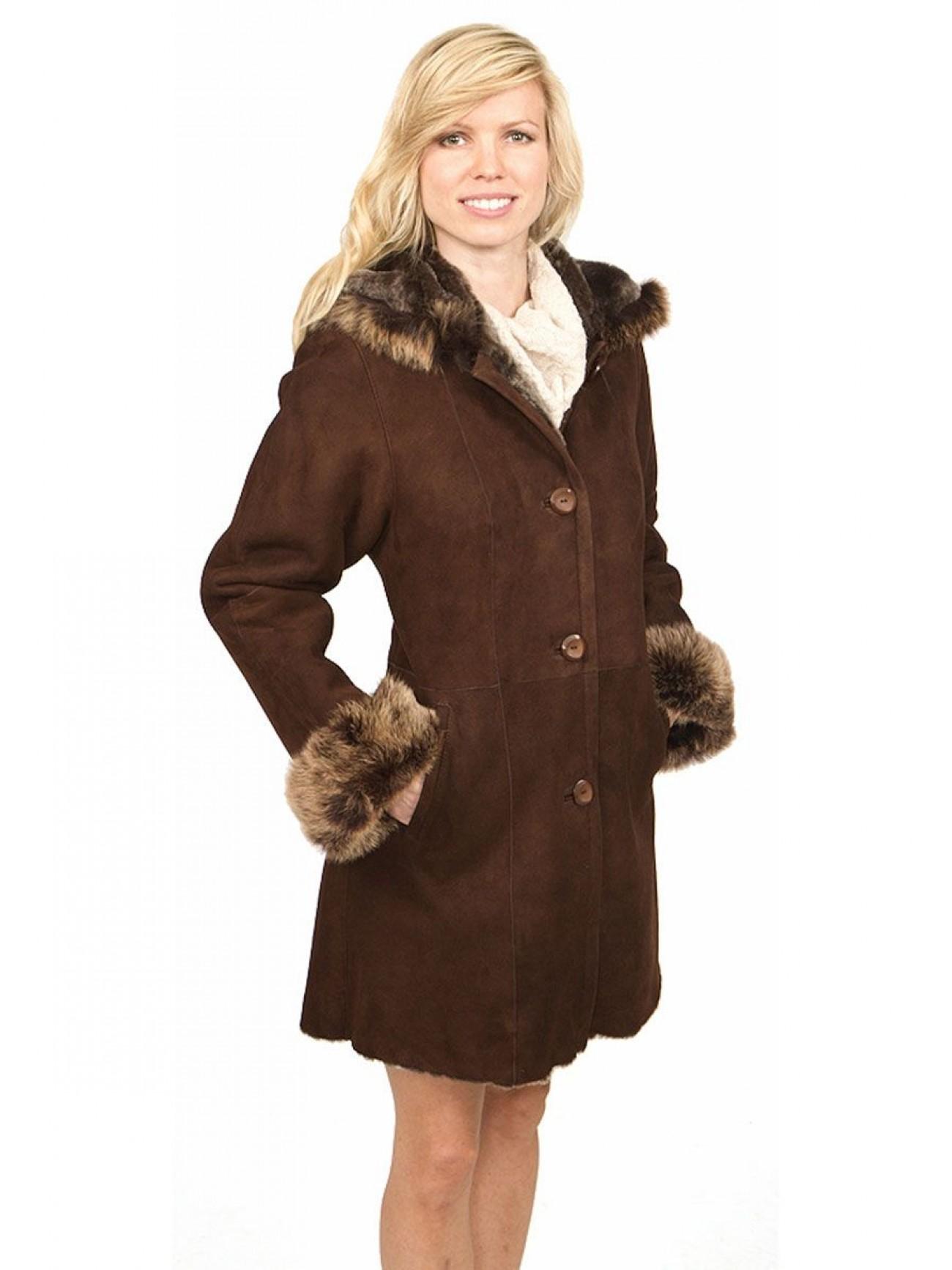 Women\'s Delphine Shearling Coat
