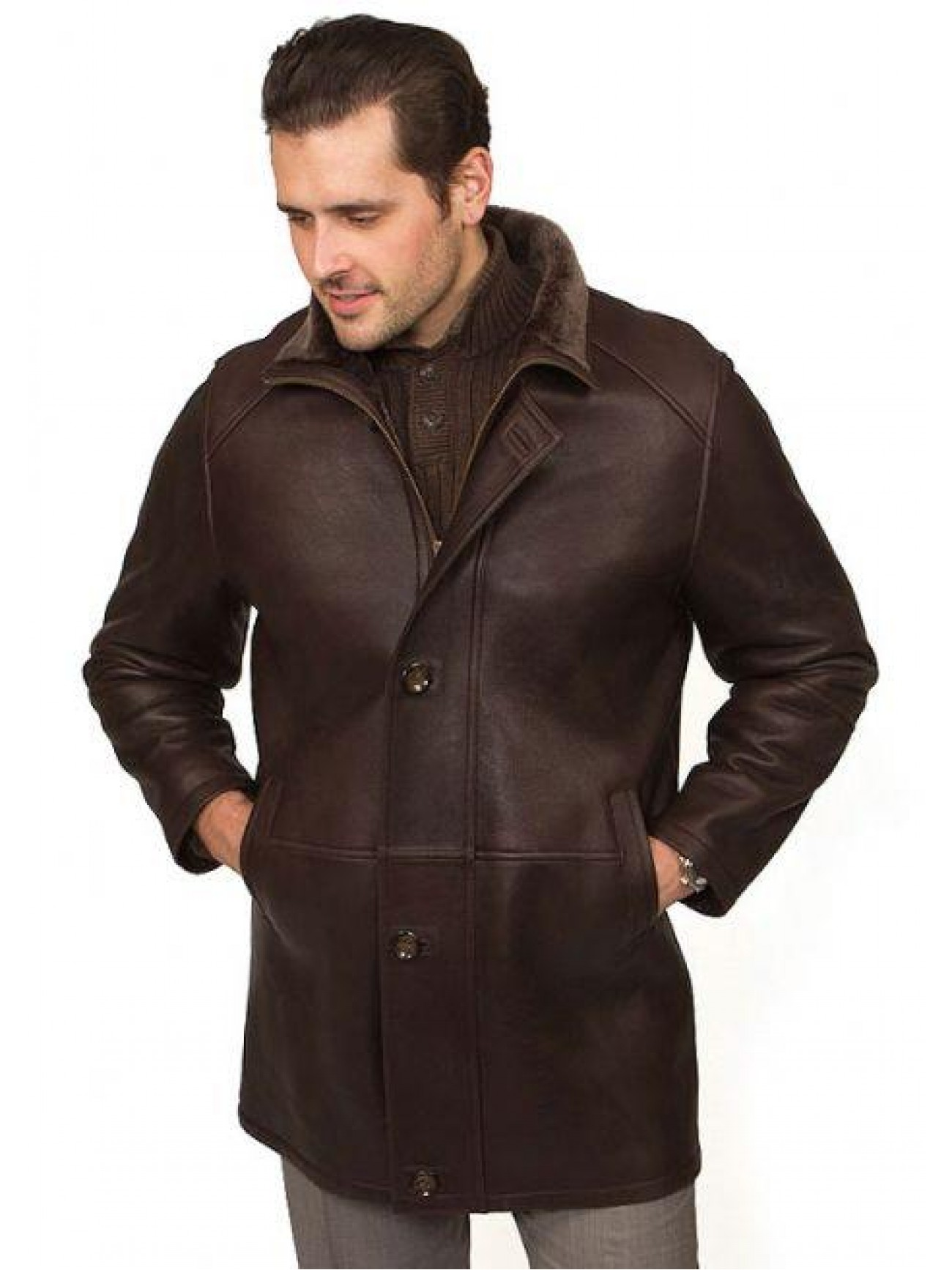 Men S Suits On Pinterest: Men's Boston Shearling Coat