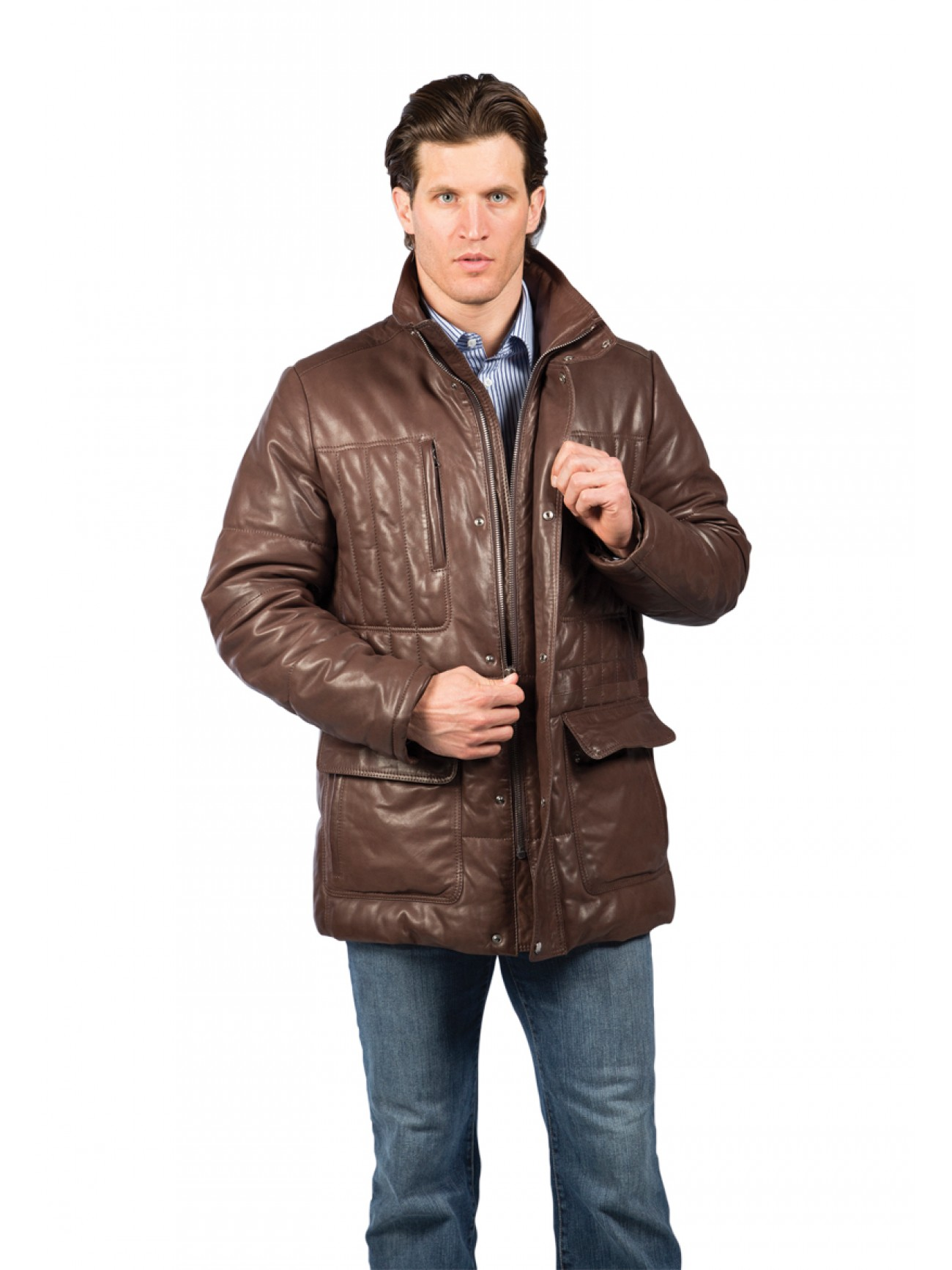 Men S Victoria Lambskin Leather Jacket