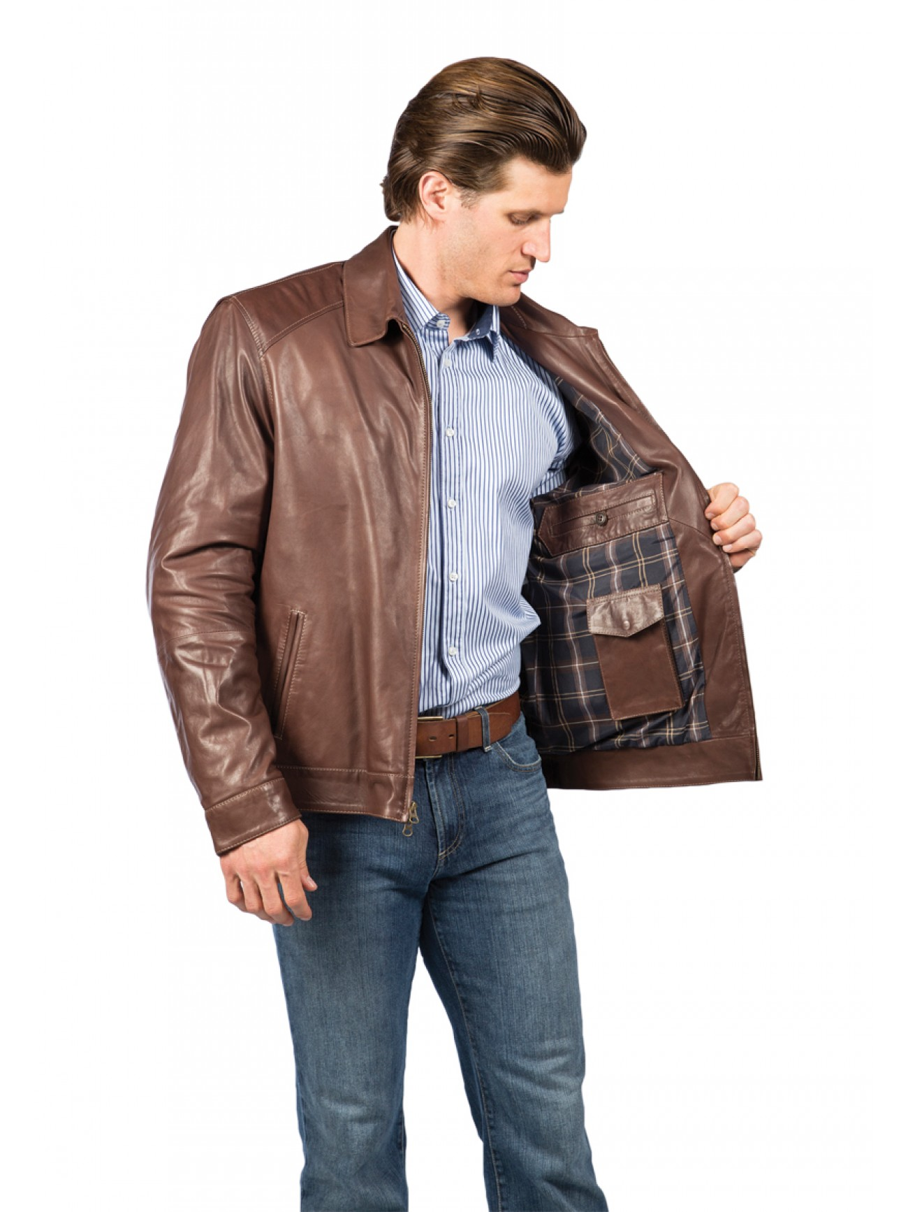 Men S Lambskin Leather Jacket
