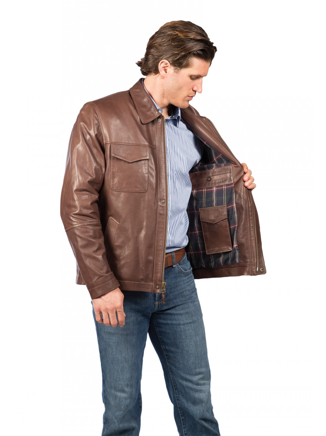 Men S Mccloud Lambskin Leather Jacket