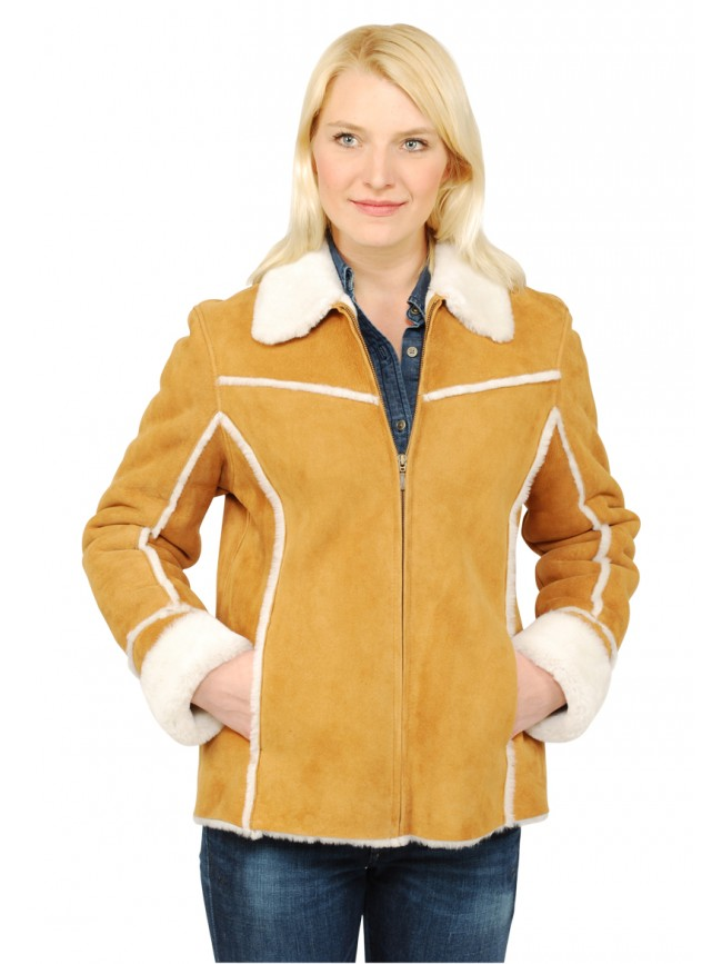 Ivory Shearling Jacket