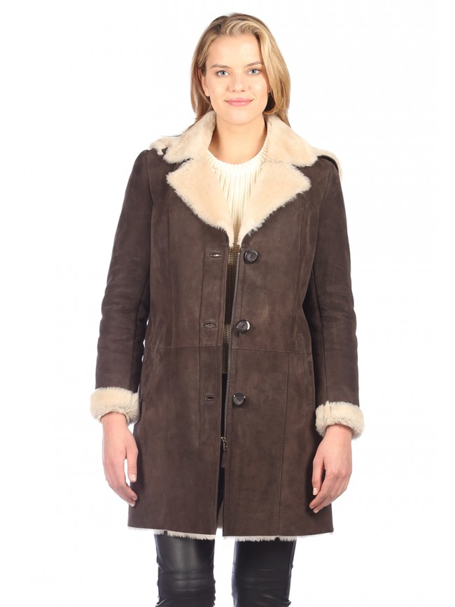 Heather Shearling Coat