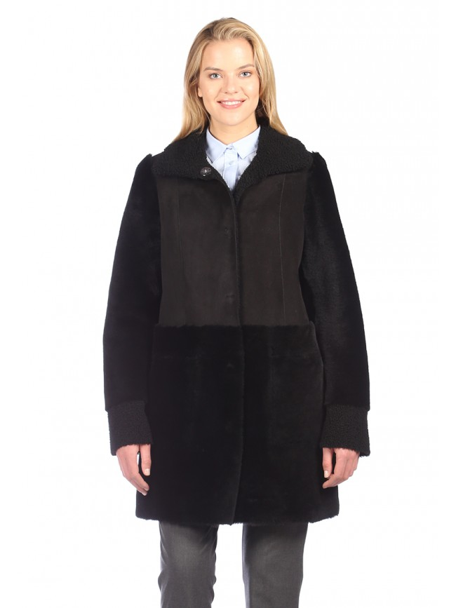 Petunia Reversible Shearling Coat