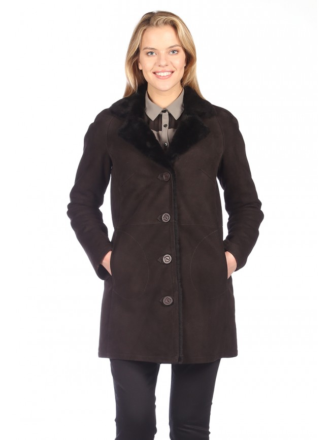 Poinsettia Shearling Coat