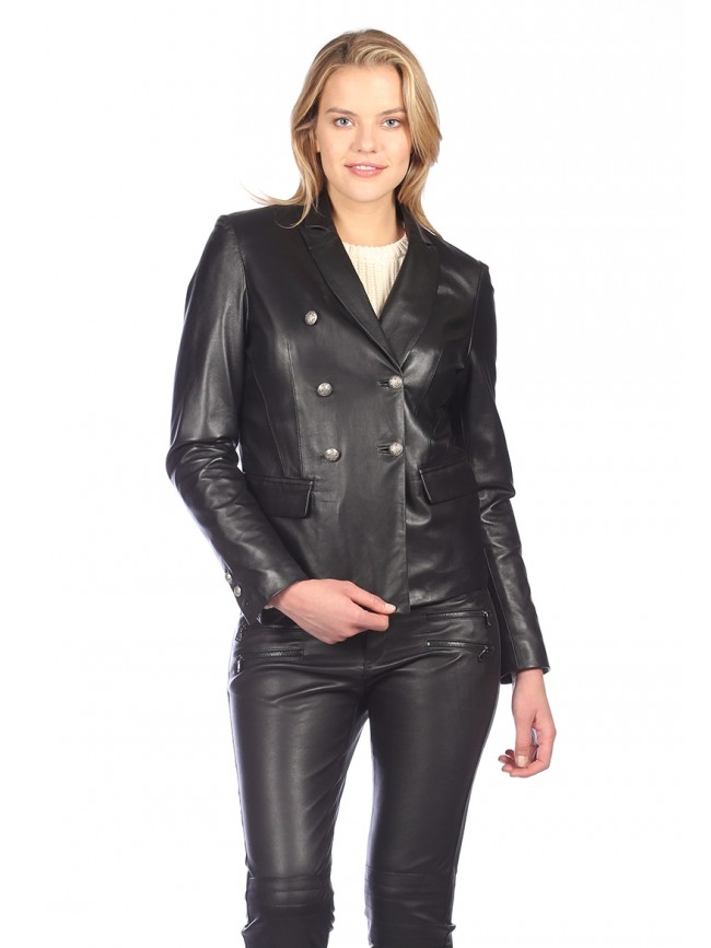Ella Leather Blazer