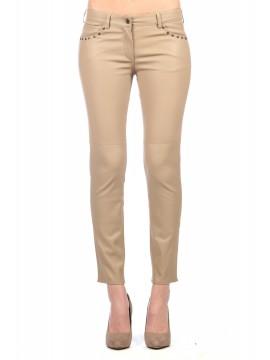 Estrella Stretch Leather Pants
