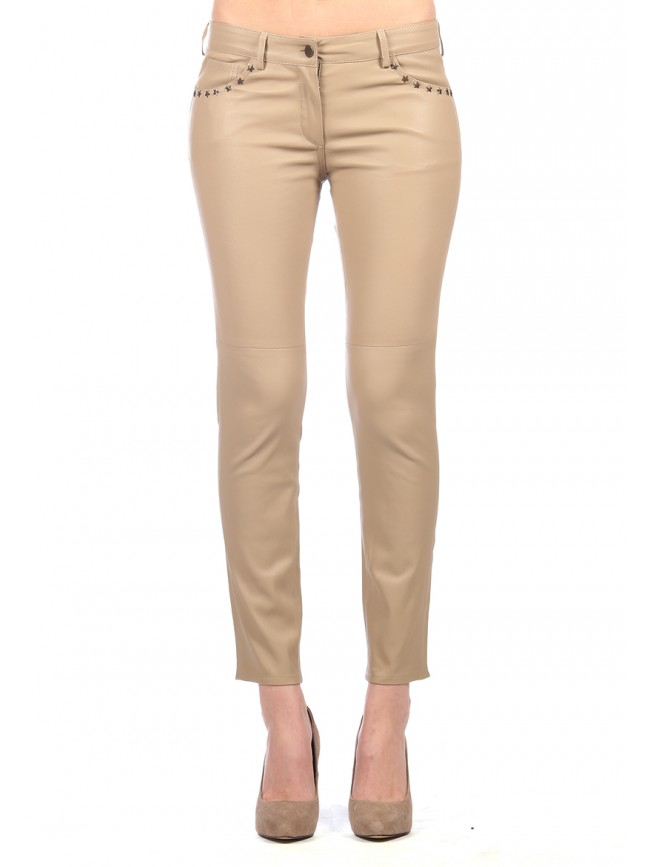 Estrella Stretch Leather Pants