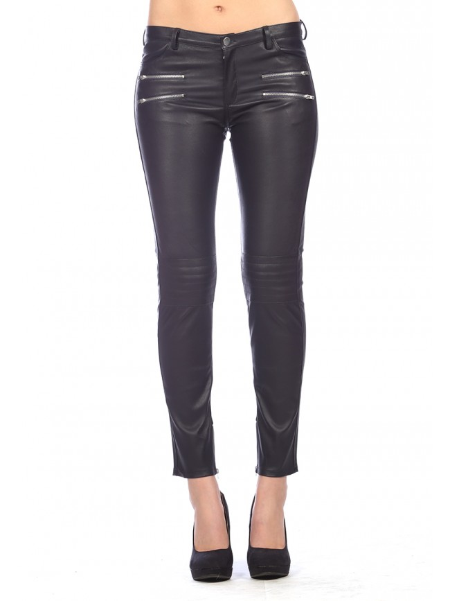 Rhoda Stretch Leather Pants