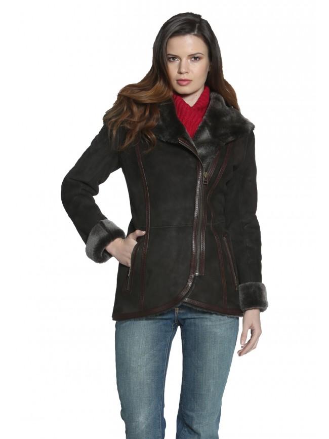 Julia Hooded Shearling Coat