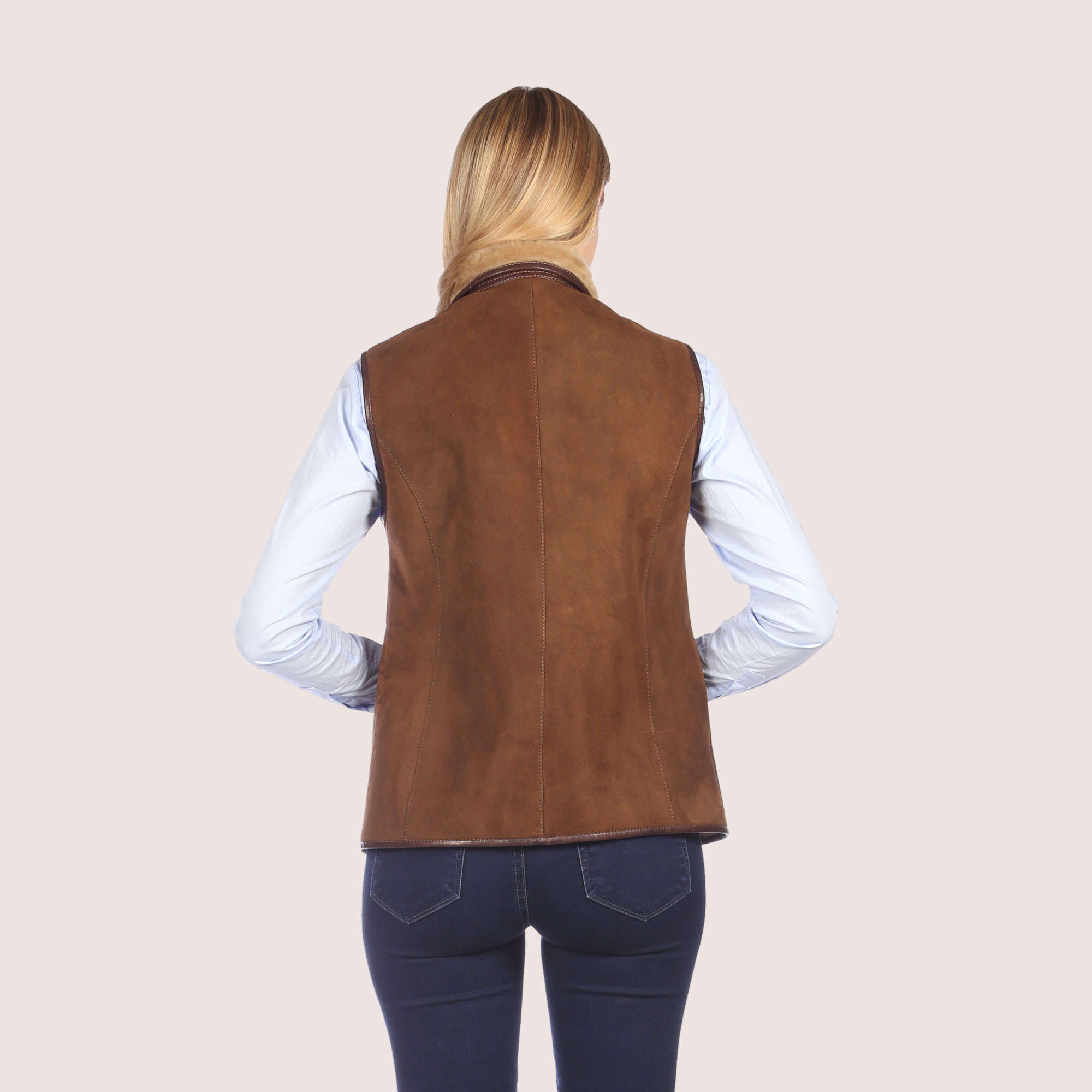 Ruby Shearling Vest