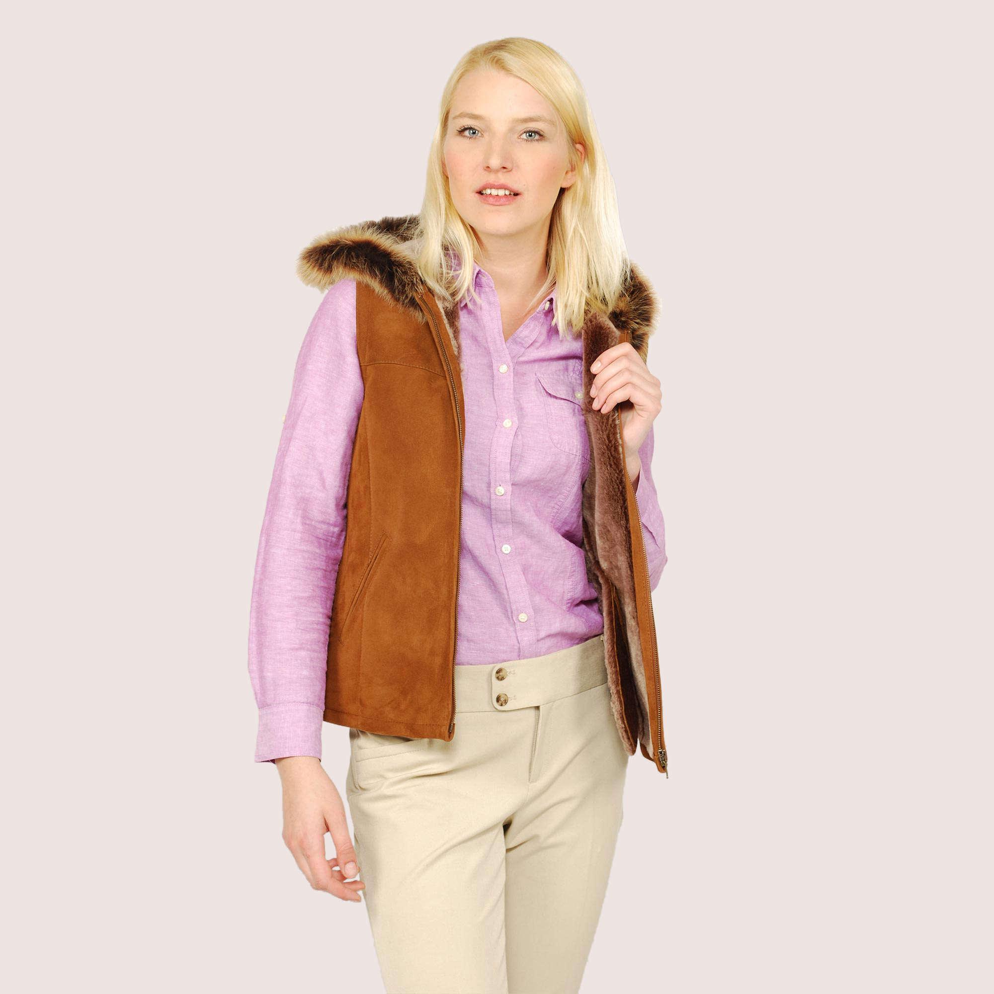 Celine Shearling Vest