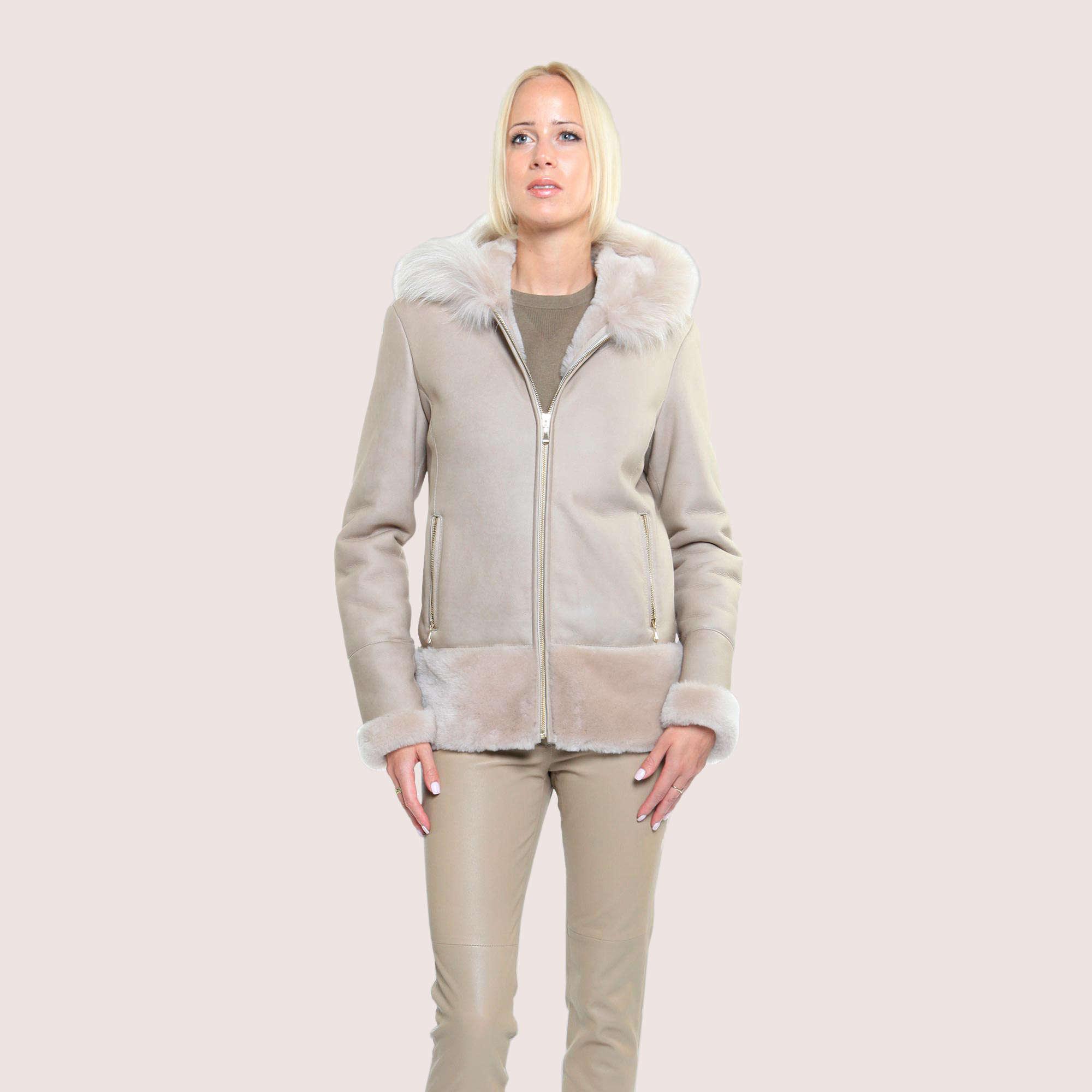 Crystal Shearling Coat