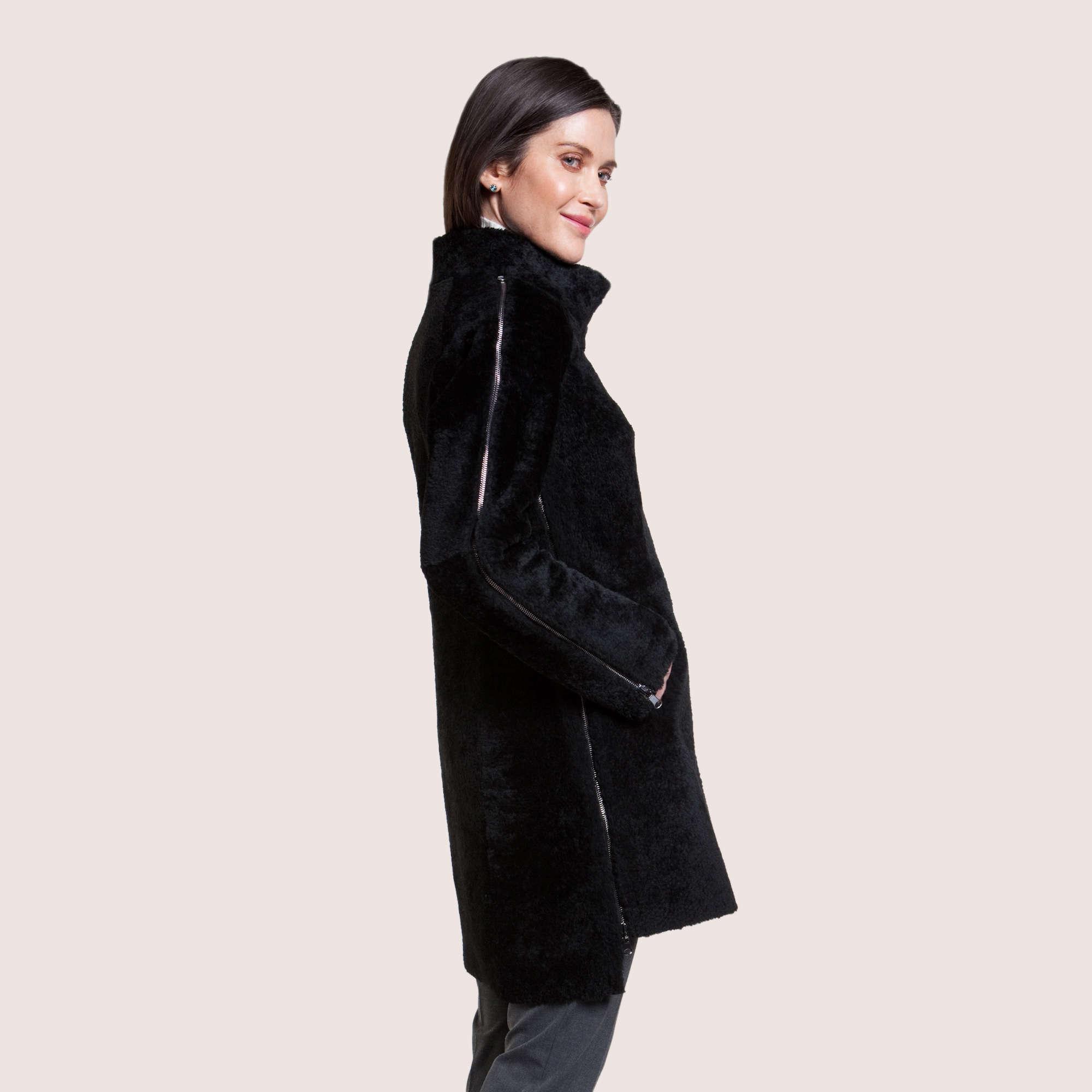 Ariana Reversible Shearling Coat