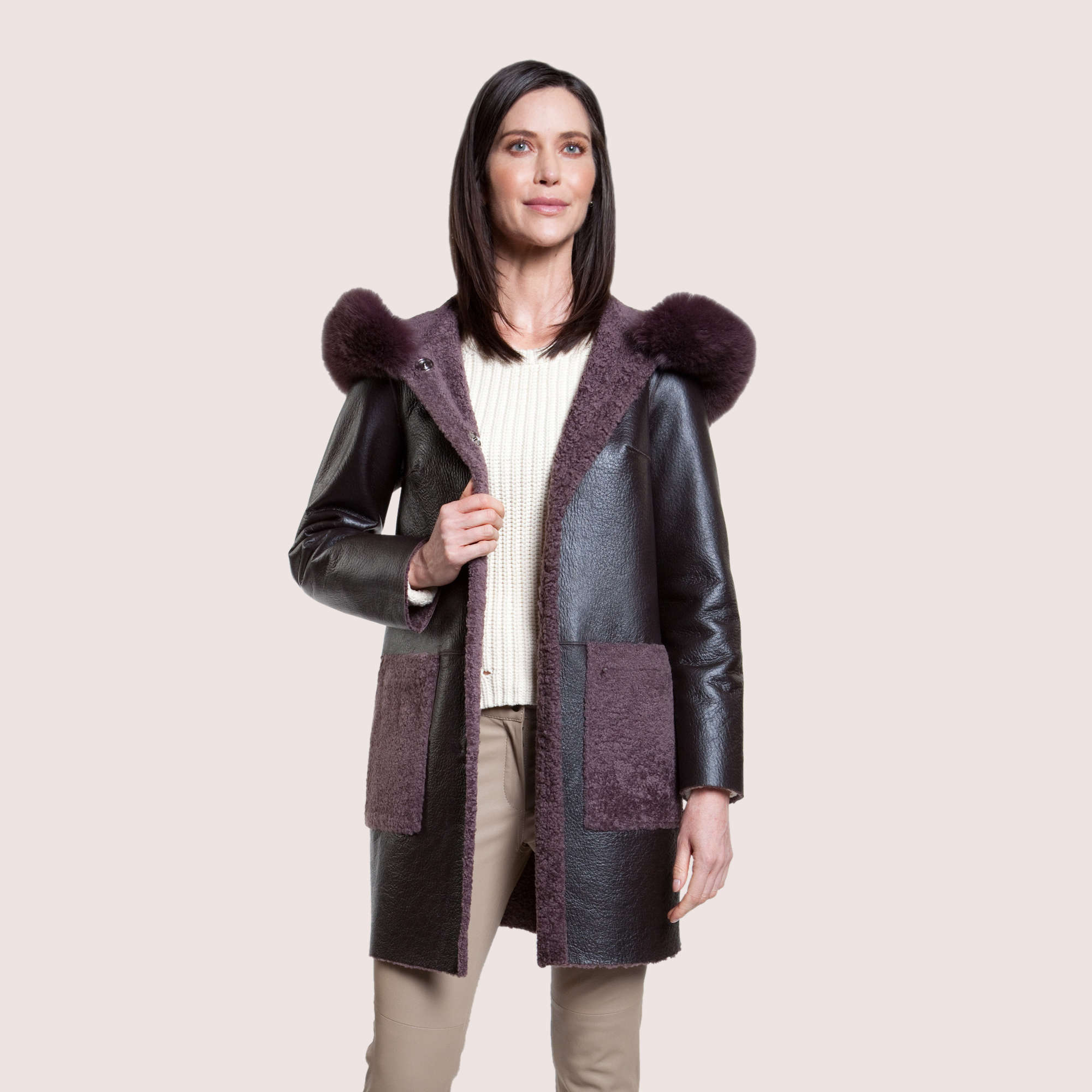 Scarlett Reversible Shearling Coat
