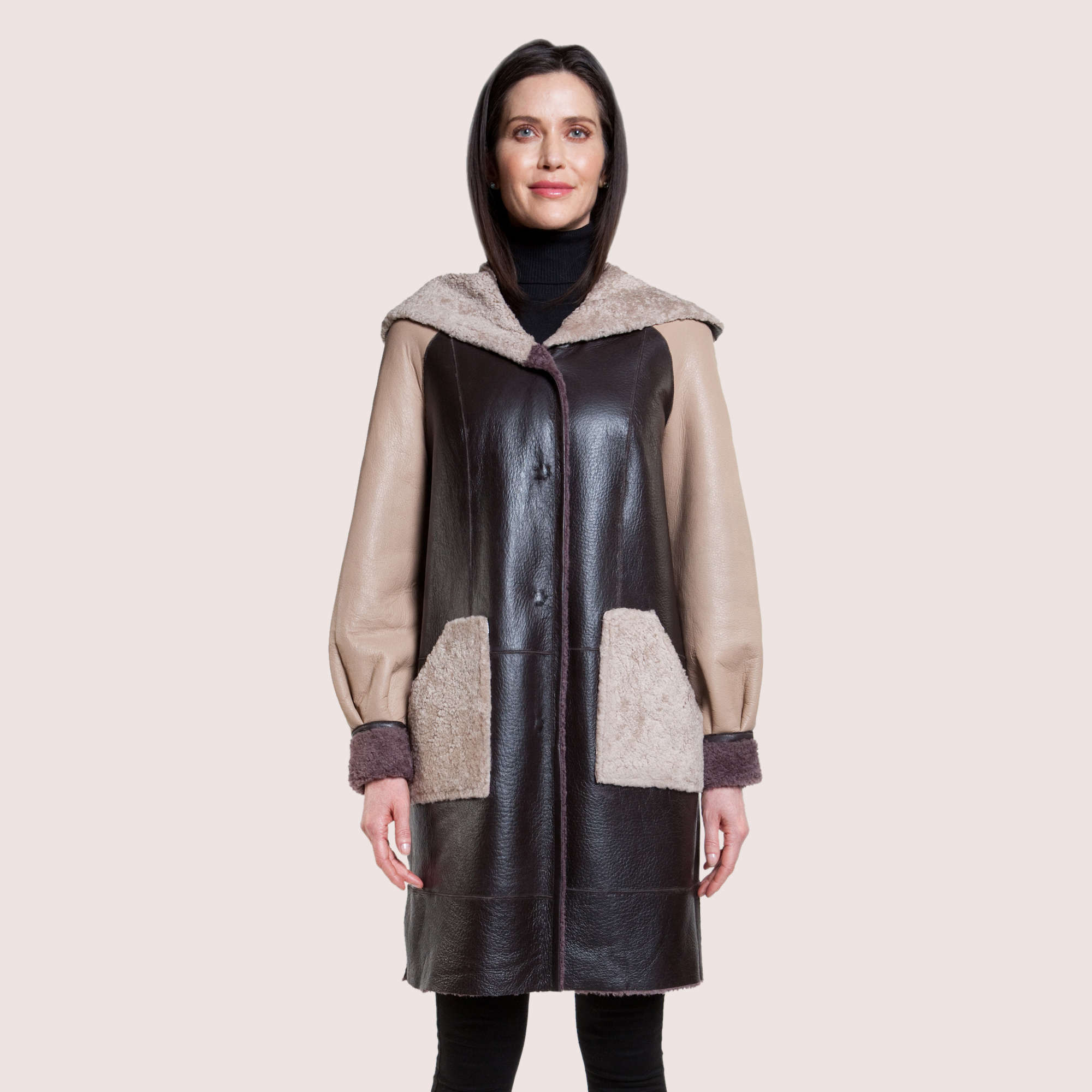 Judith Reversible Shearling Coat
