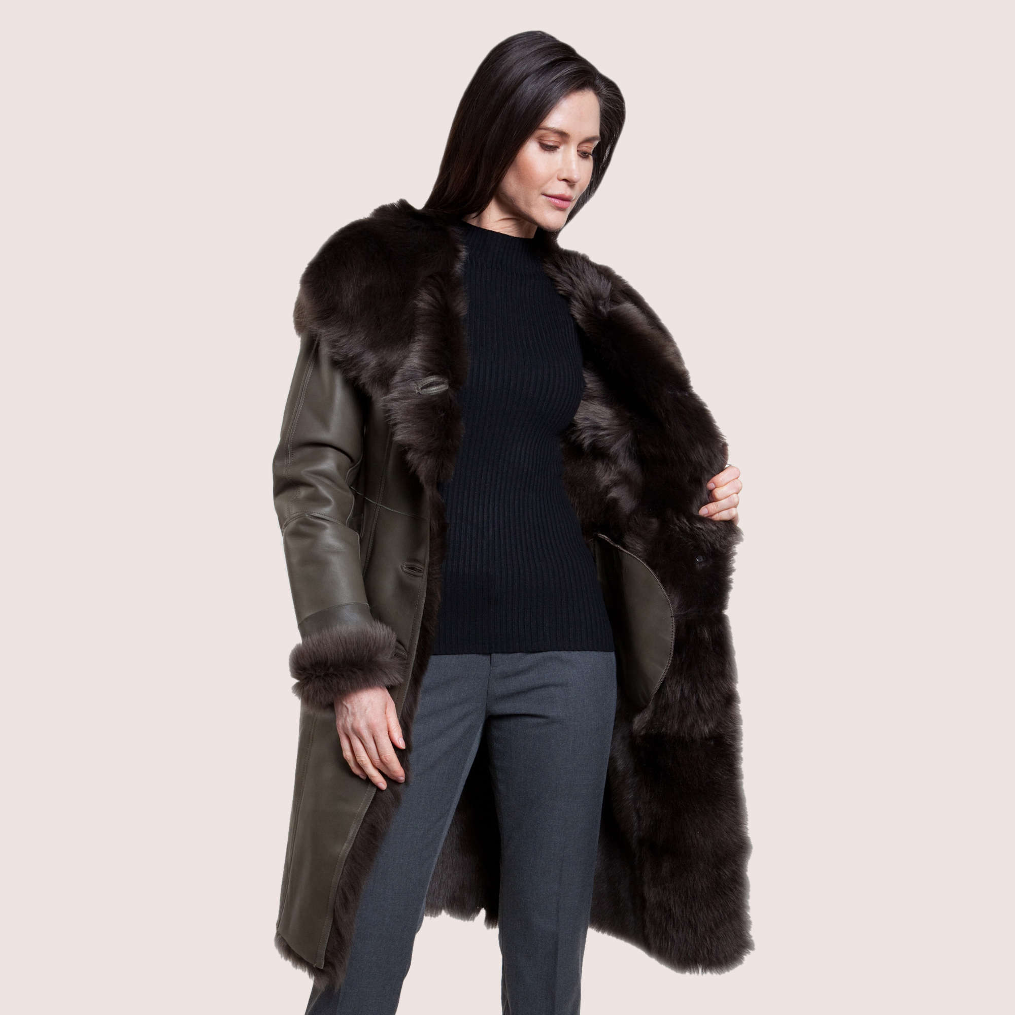 Ella Shearling Coat