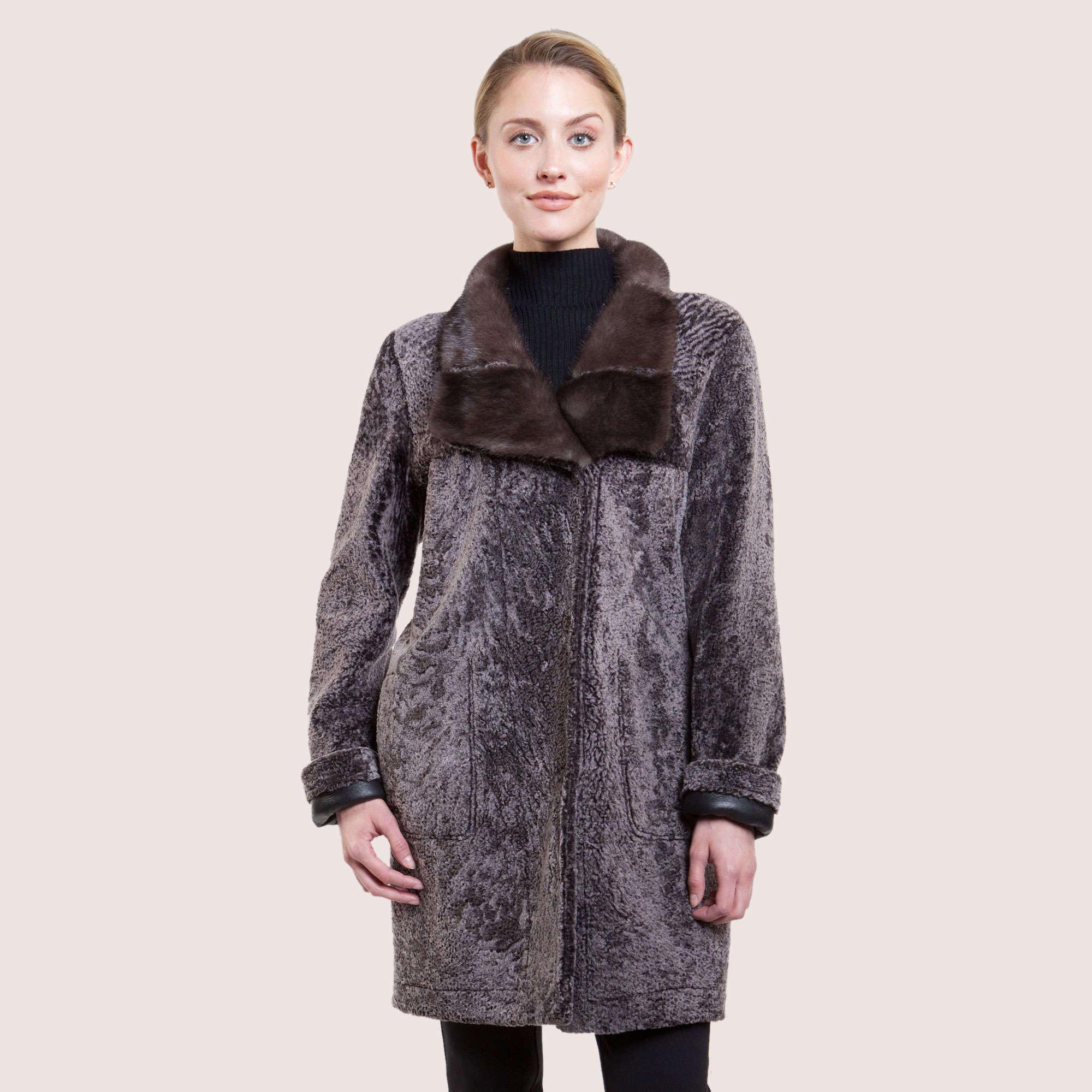 Doris Reversible Shearling Coat