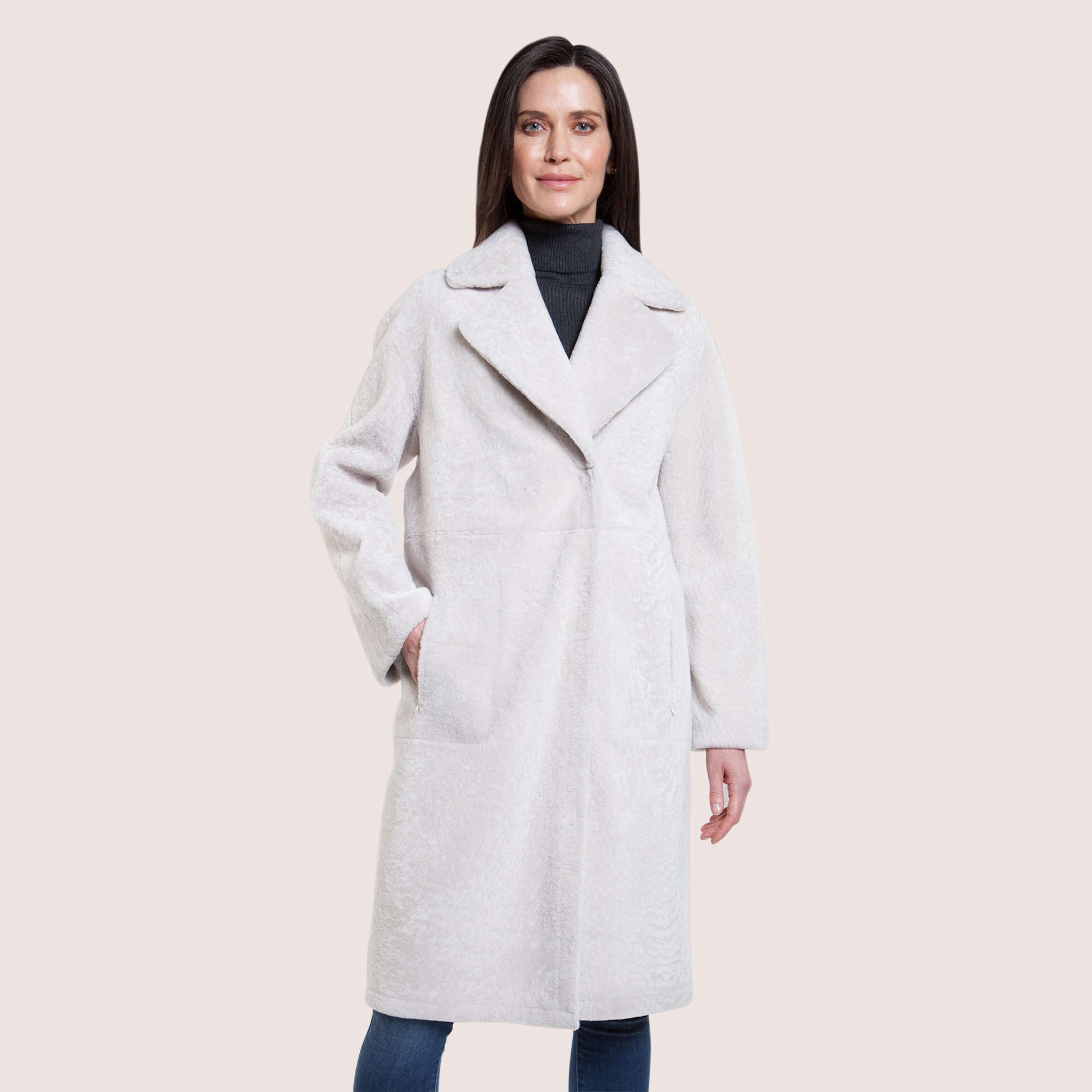 Alexandra Reversible Shearling Coat