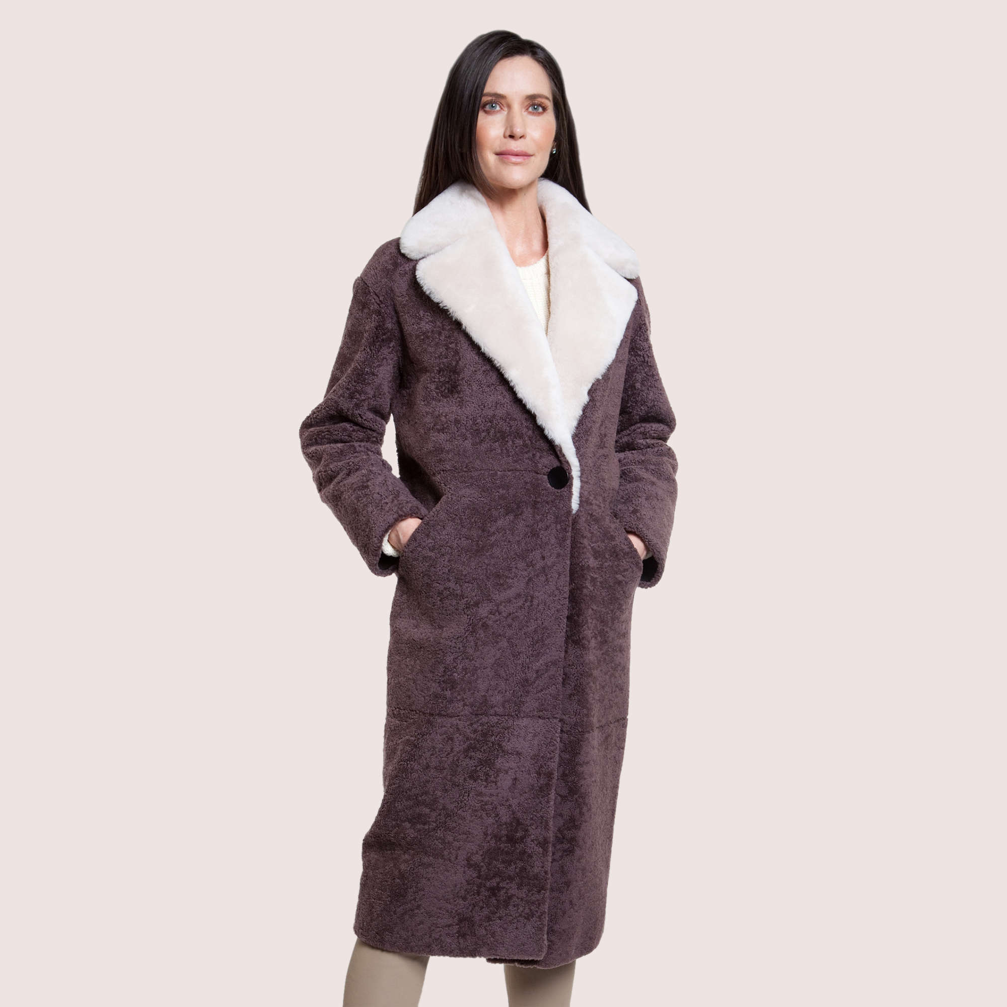 Elise Shearling Coat