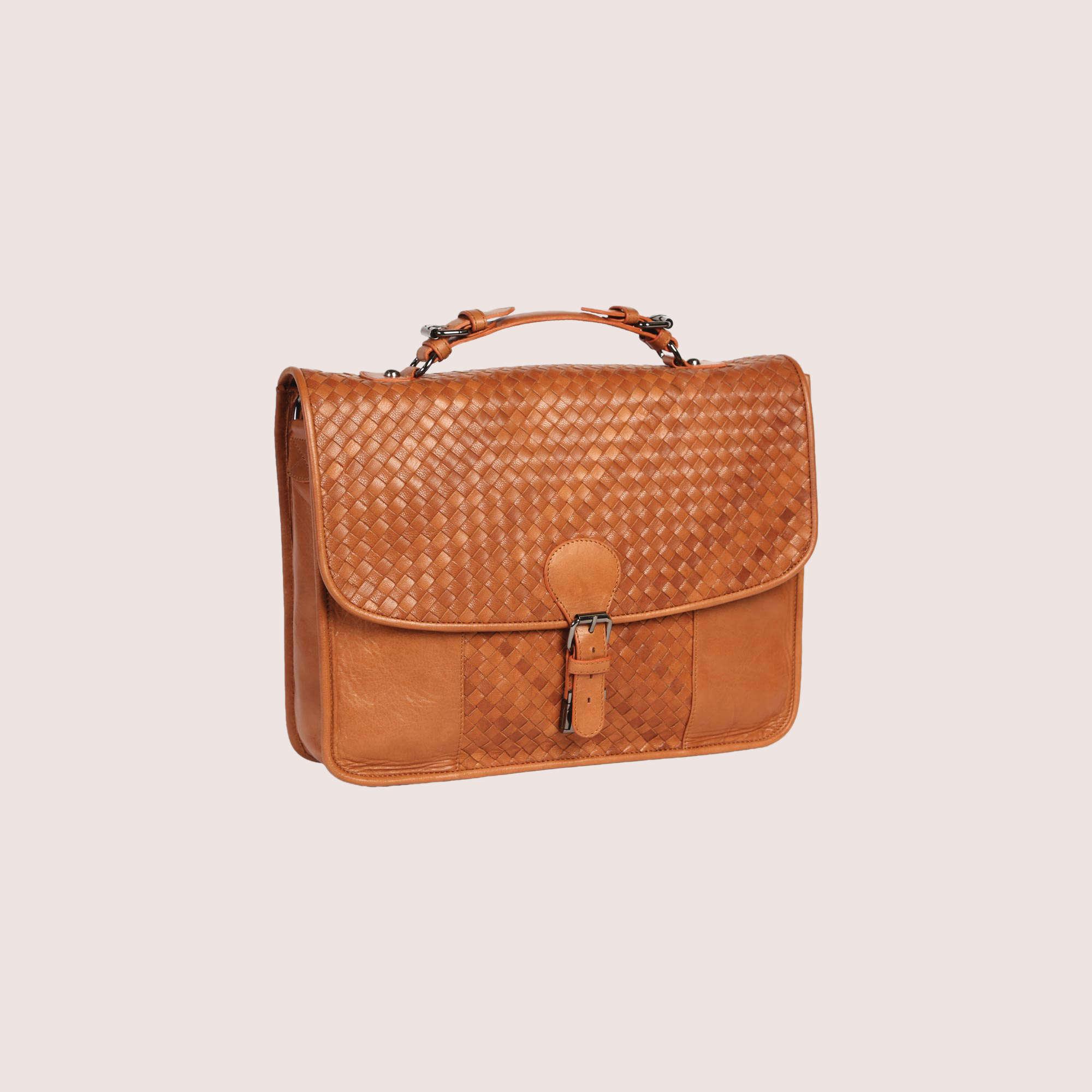 Hamilton Hand Woven Briefcase