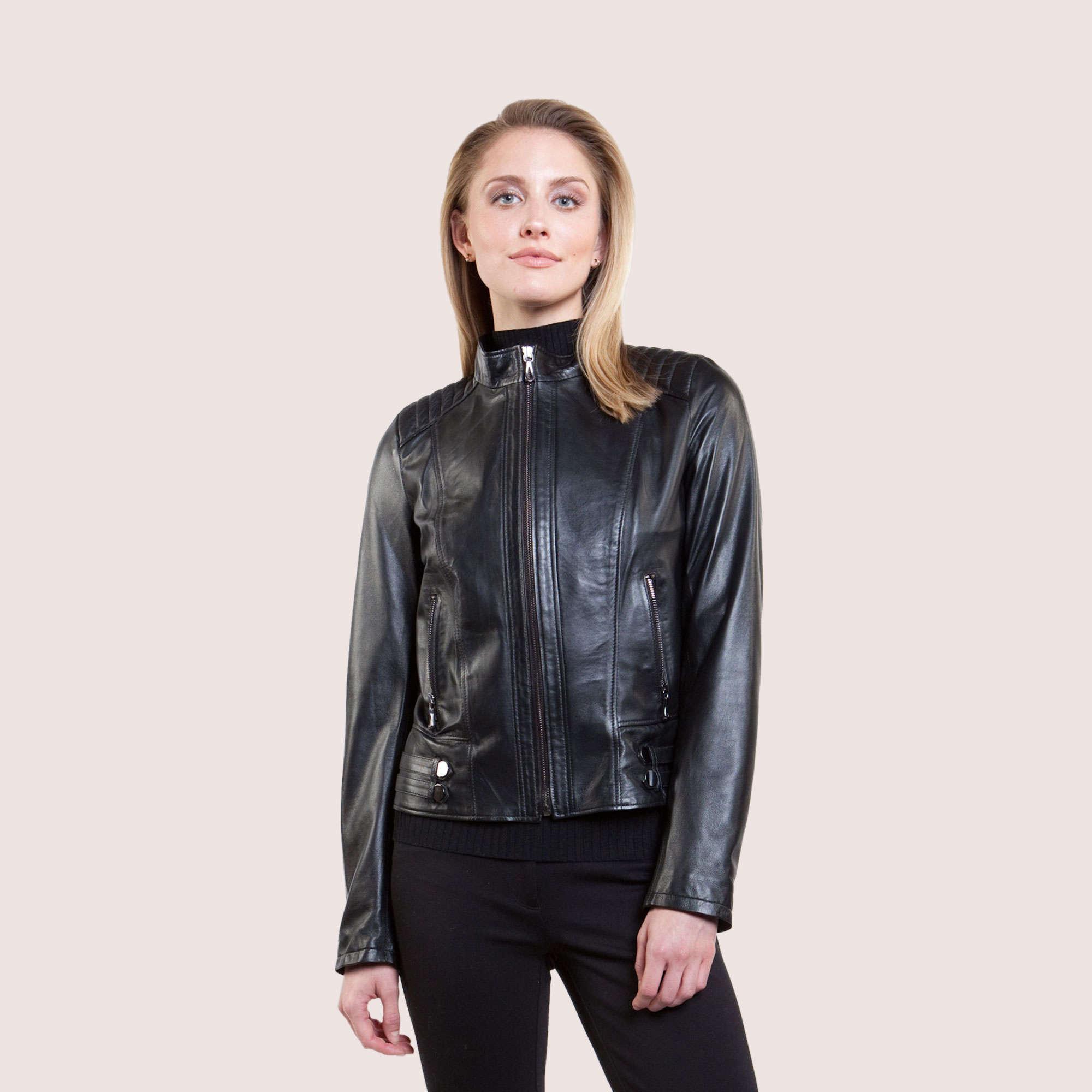 Leslie Lambskin Jacket