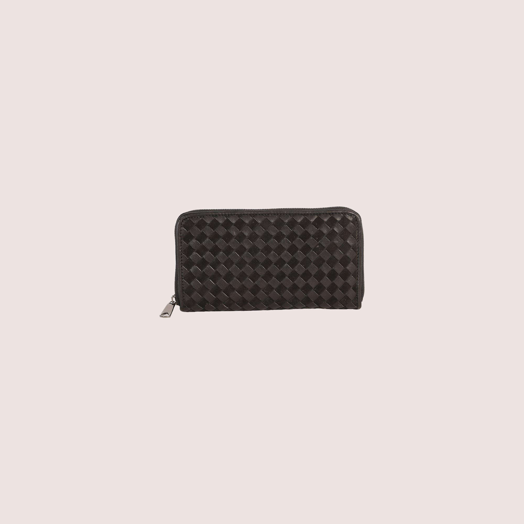 Nikki Woven Leather Wallet